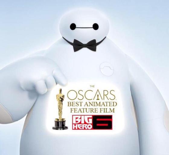 """Baymax gewinnt Oscar für """"Bester Animationsfilm"""" 2015"""
