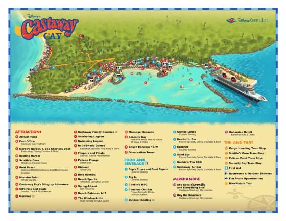Castaway Cay im Überblick: Die offizielle Karte - Insel der Disney Cruise Line