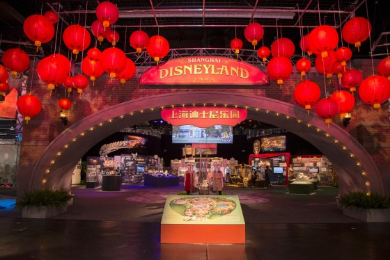 Disney Parks at D23 EXPO 2015 -- The Walt Disney Parks and Resorts show floor pavilion gives D23 EXPO 2015 guests a look into the much-anticipated Shanghai Disney Resort. In a celebratory exhibit, maquettes, artist illustrations, and media clips capture the designers' journey as the resort comes to life. Guests can learn about the show design process and discover the tradition and innovation infused into the resort. (Paul Hiffmeyer/Disney Parks)