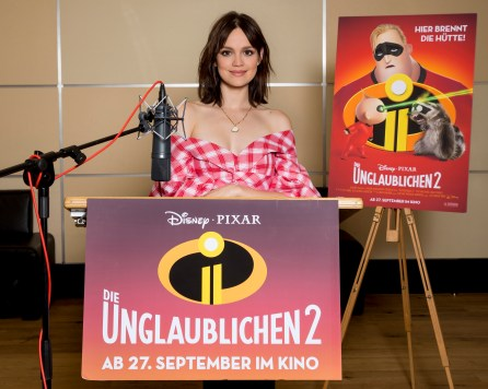 Berlin, Juni 2018, Synchronaufnahmen mit Emilia SchŸle fŸr den Disney Pixar Film Die Unglaublichen 2 photo: Hanna Boussouar