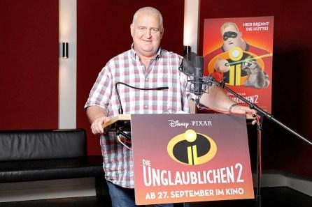 """Markus Maria Profitlich im Synchronstudio für """"Die Unglaublichen 2"""" München, 13.06.2018 ©The Walt Disney Company/Kurt Krieger"""