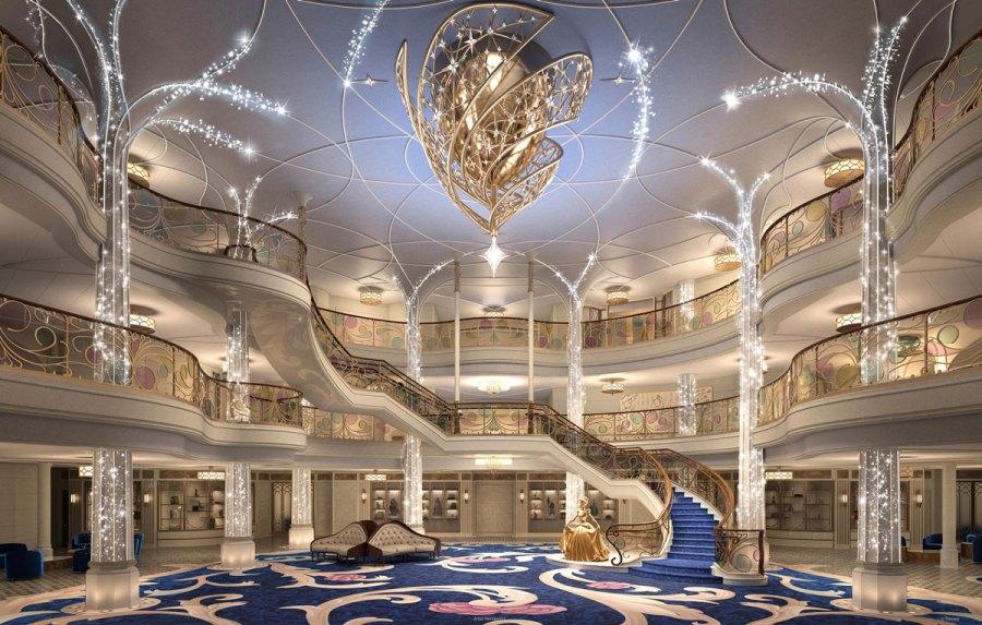 Das neue Disney Schiff: Disney Wish - Grand Hall