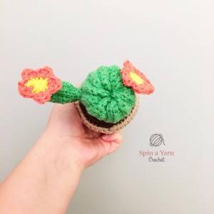 Crochet Cactus Top View