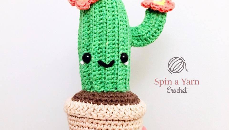 Amigurumi Cactus Crochet Pattern : Camilla cactus free crochet pattern u2022 spin a yarn crochet