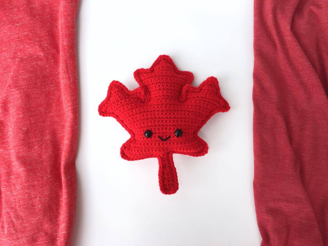 maple leaf amigurumi free crochet pattern u2022 spin a yarn crochet