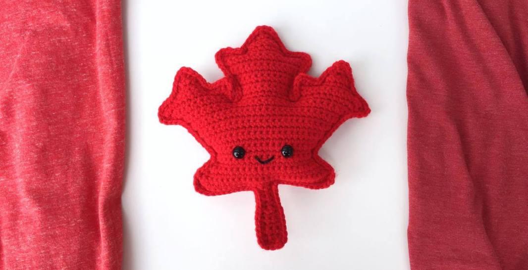 Maple Leaf Amigurumi Free Crochet Pattern Spin A Yarn Crochet