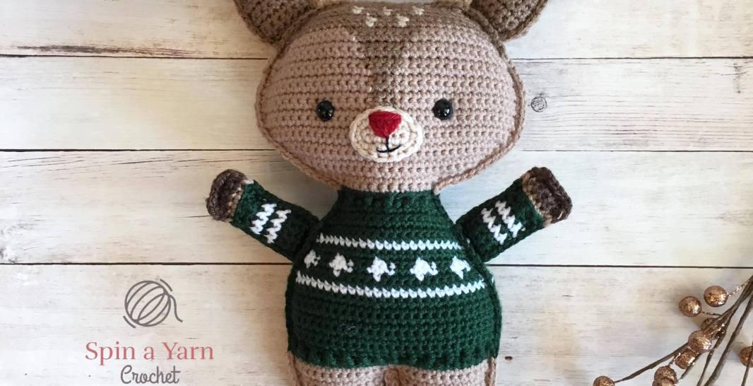 Holiday Deer Free Crochet Pattern Part 2 Spin A Yarn Crochet