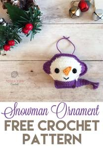 Snowman Ornament with text