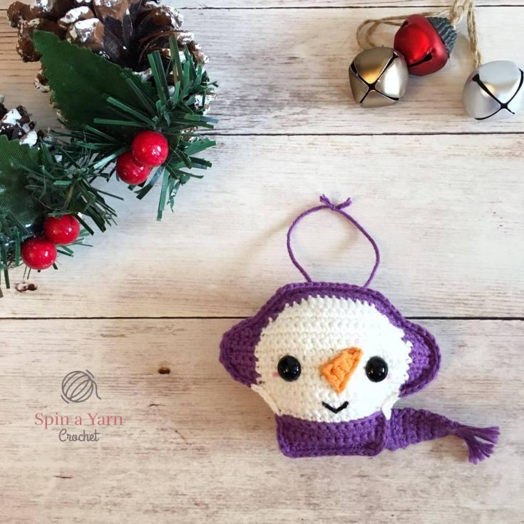 Snowman Ornament Free Crochet Pattern