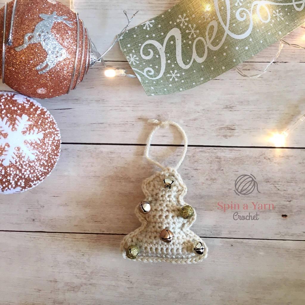 Cream tree ornament