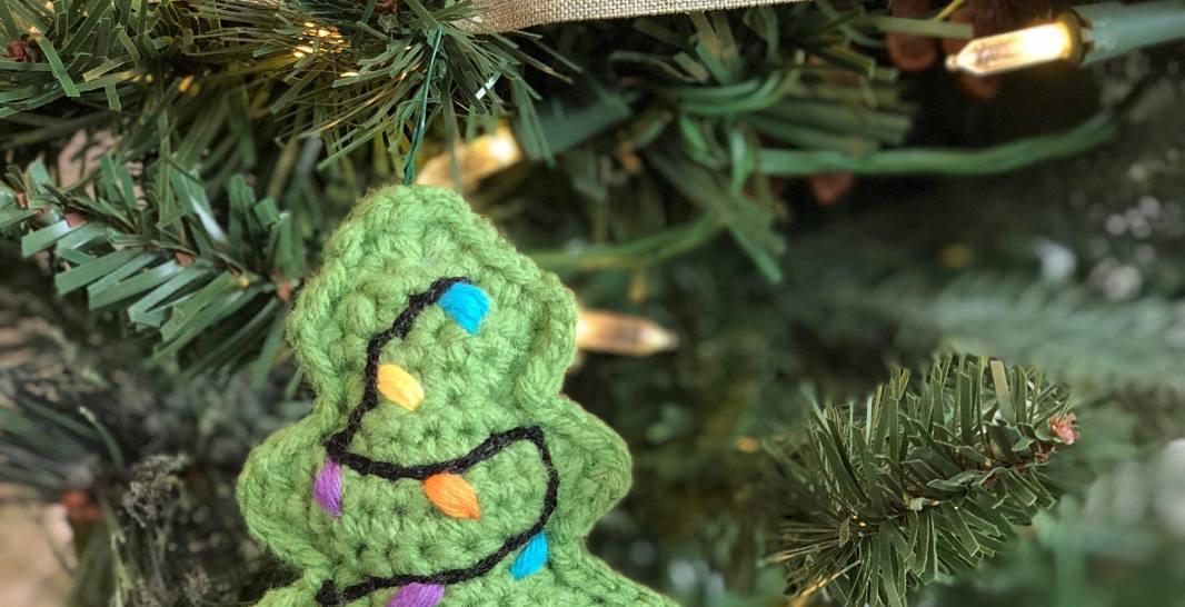 Miniature Tree Ornament Free Crochet Pattern Spin A Yarn Crochet
