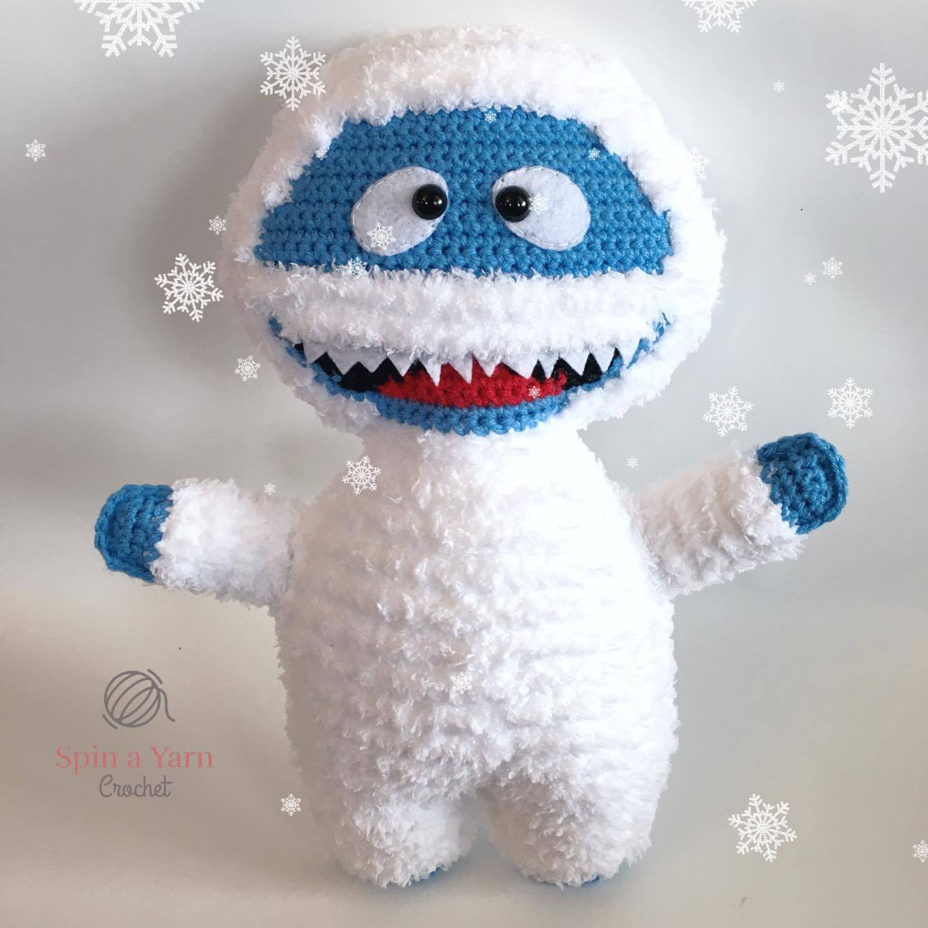 Bumble the Abominable Snowman Free Crochet Pattern • Spin a Yarn Crochet