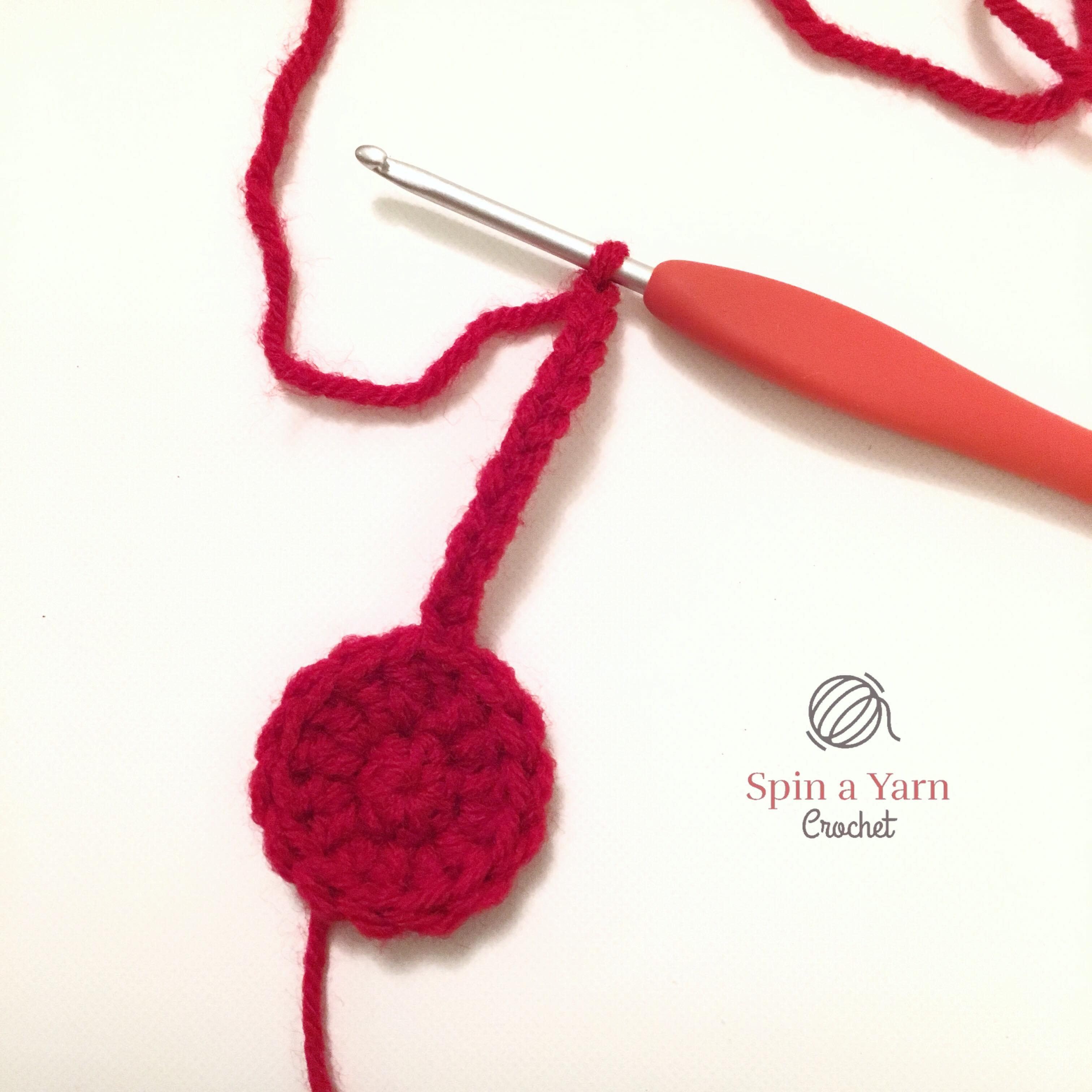 Crochet curling handle