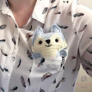 Light Blue fox in pocket