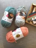 Three skeins of yarn