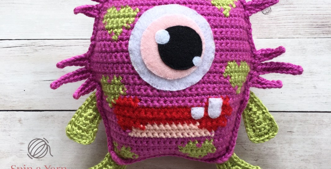 Blinky Love Monster Free Crochet Pattern Spin A Yarn Crochet