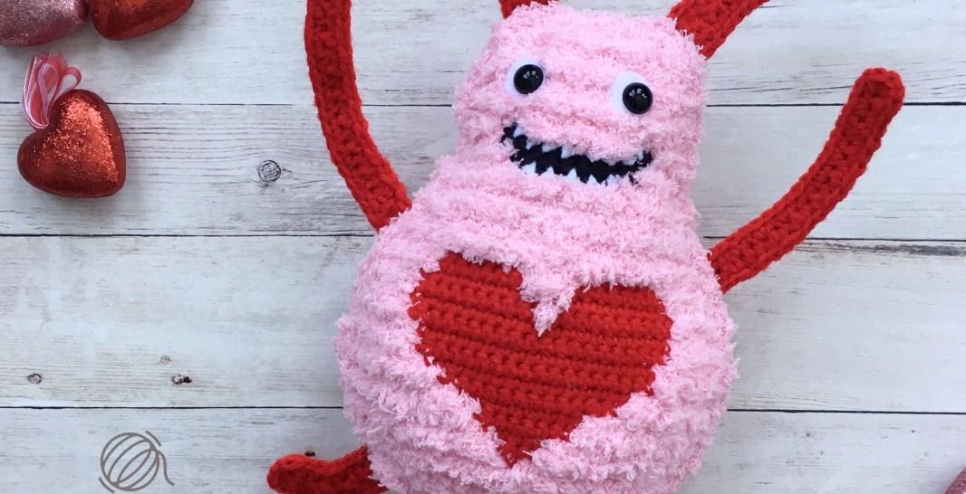 Big Fuzzy Love Monster Free Crochet Pattern Spin A Yarn Crochet
