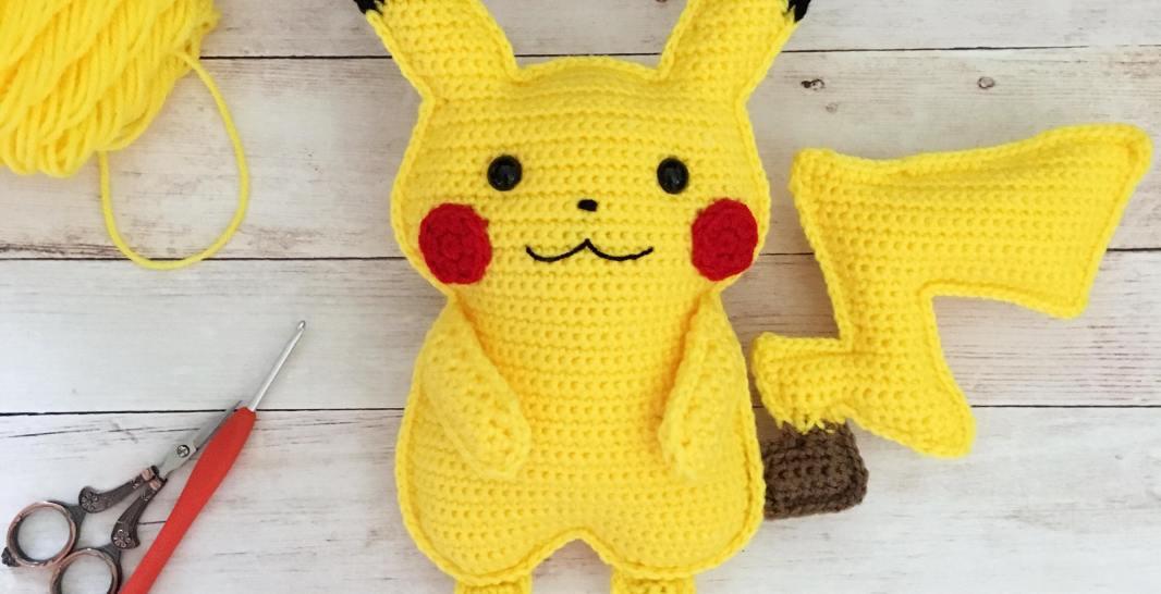 Patrón amigurumi de Pikachu - Patrones gratis | 546x1066