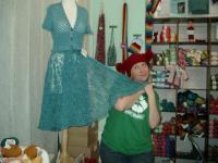 Chloe with Kathy shawl