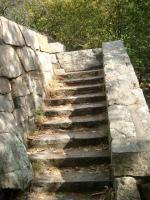 Steps to the top of Sugarloaf's fort