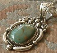 Green Valley pendant by Frances Begay