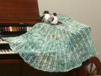 Julia shawl in Knitpicks fingering weight merino Bare, dyed