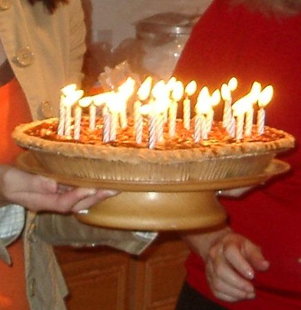 Pecan Pie For Birthday Cake