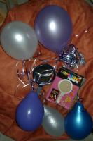 birthday balloons and laughing mirror