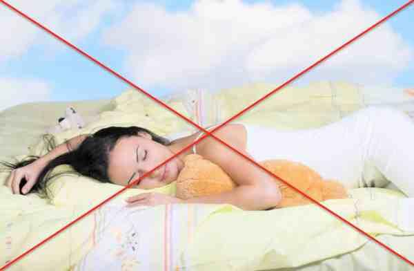 Dormir à plat ventre Mauvaise position Spin'Dynamic
