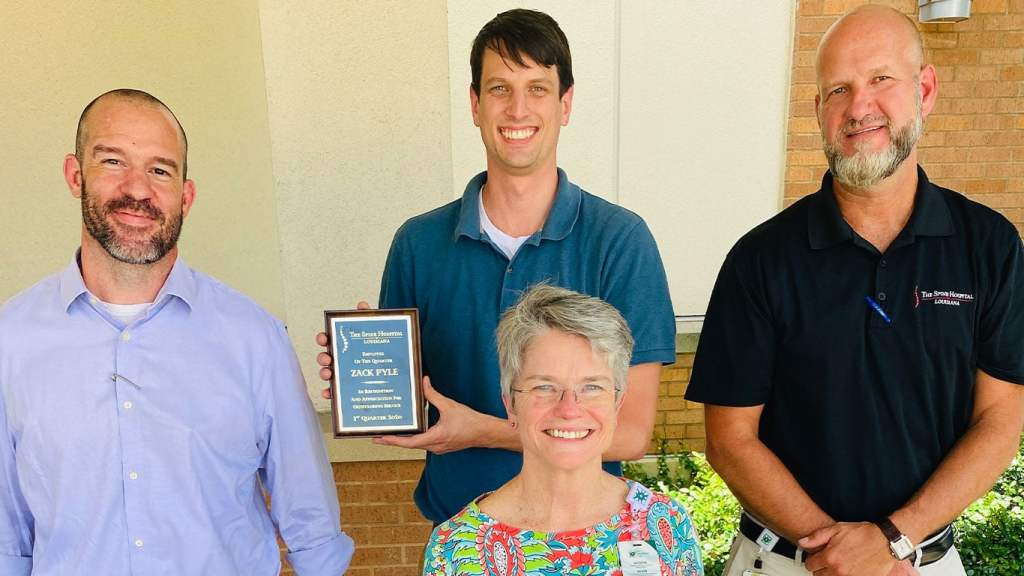 zach pyle named employee of the first quarter
