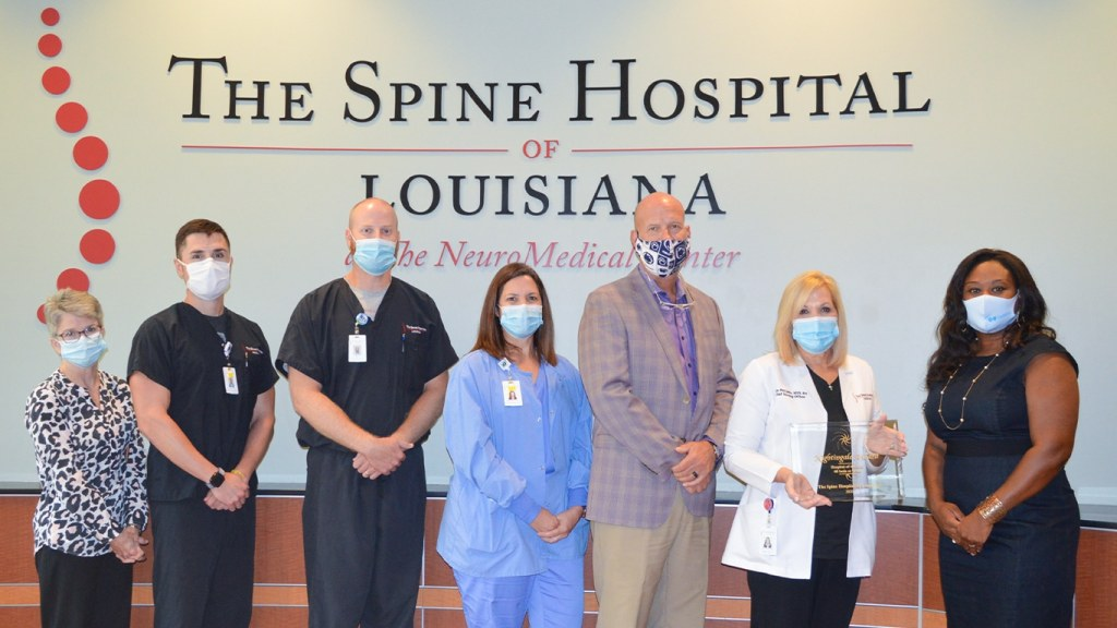 Spine Hospital of Louisiana Accepts 2020 Hospital of the Year Honor