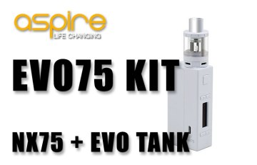 ASPIRE EVO75 KIT REVIEW SPINFUEL VAPE MAGAZINE