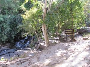 Dry waterfall, Sangkhom