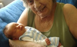My lovely lae Nanna holding my son for the first time :)