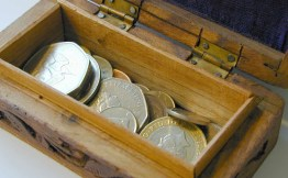 A box of money, how to cost your services and products, factoring in things you pay out for, Claire Hirst, spinmyplates.com