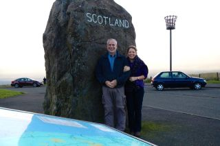 At the Scotland-England border