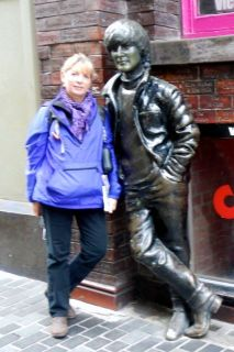 me and John hanging outside the Cavern Club in Liverpool