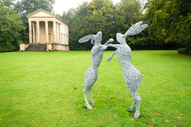 boxing hares (Rievaulx Terrace)