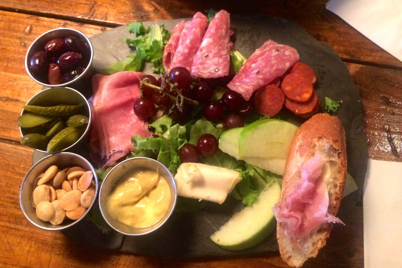 Blue Dahlia: meat & cheese board