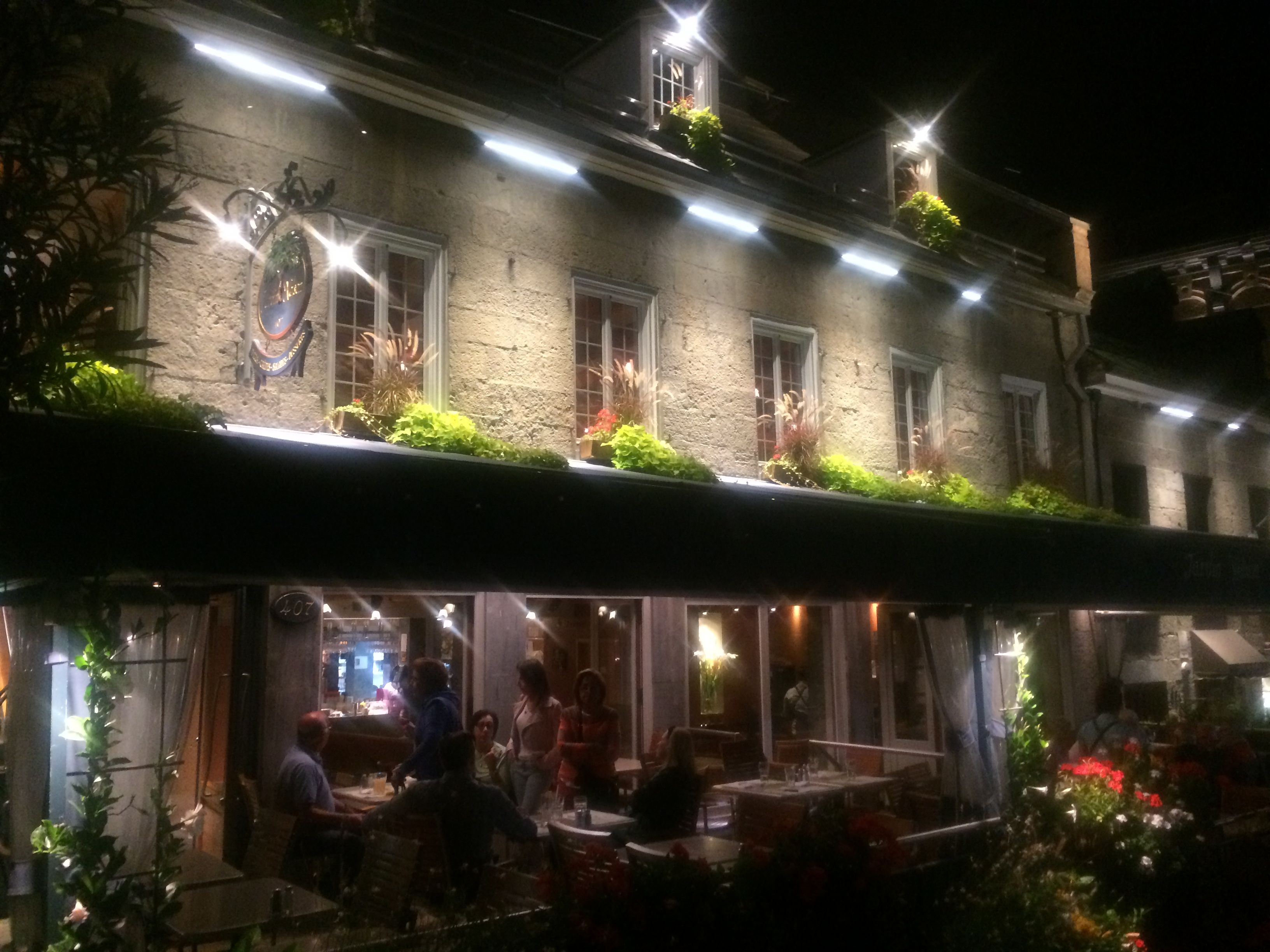 Hotel Nelson - we had a great dinner on their terrasse
