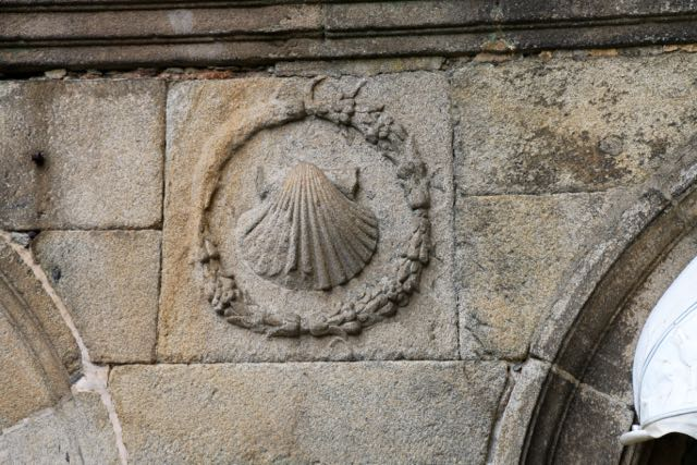 Scallops, the symbol of St. James, in every nook...