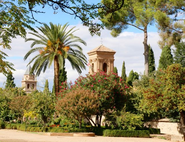 The lush landscaping of the Alhambra was designed to offer respite from the intense heat of Andalucía