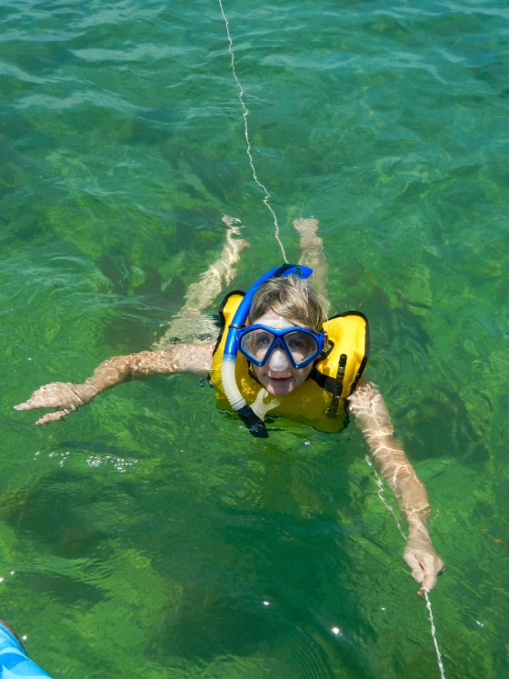 snorkeling at Bahia Honda