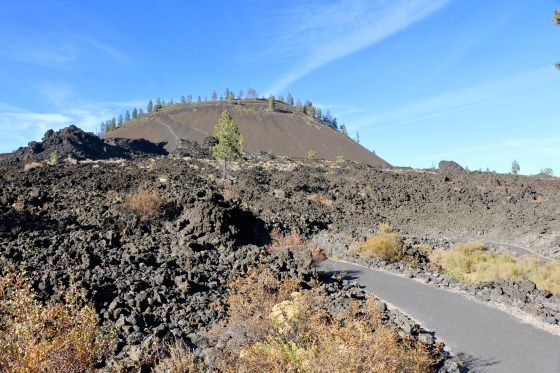 Lava Butte cinder cone in the distance