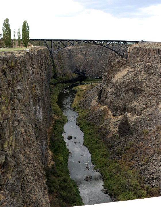 "The ""old bridge"" over the Crooked River"