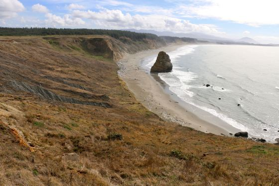 view south from Cape Blanco