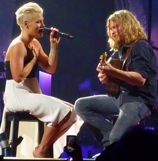 Pink and guitarist Justin Derrico slow things down.