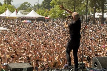 """The crowd gets involved as X Ambassadors thrilled with big hits like """"Renegades"""" and """"Unsteady."""" (Photo credit: BottleRock Napa Valley / Latitude 38 Entertainment)"""