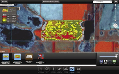Image of a field in Satshot's Mapcenter app
