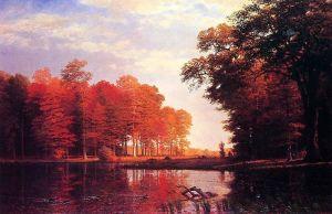 Autumn Woods, by Albert Bierstadt. 1886